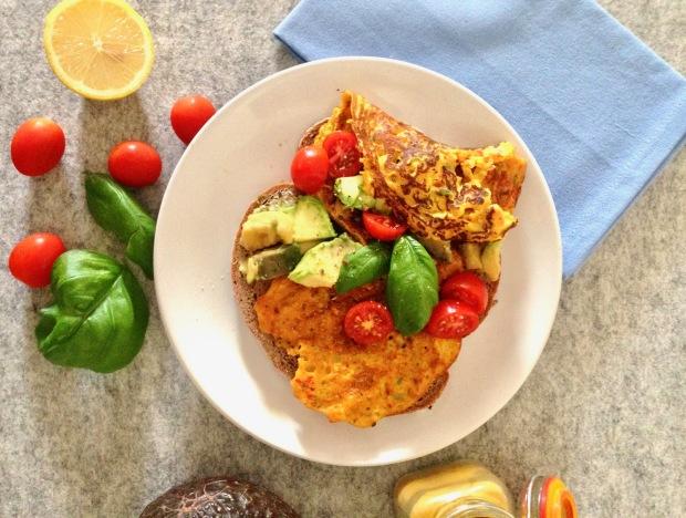Tofu omelet op zondagmorgen