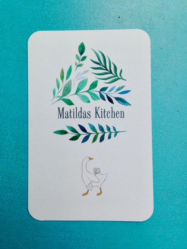 Visitekaartje Matildas Kitchen Frankfurt